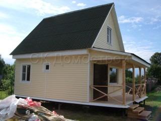Одноэтажный каркасный дом 6х6