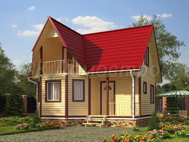 Дома из бруса под ключ в Московской области