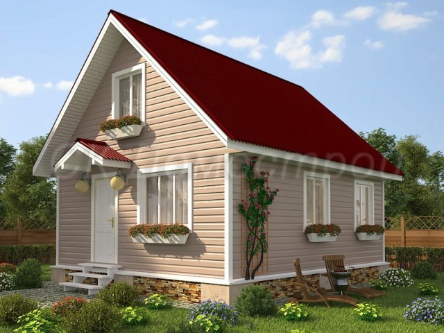 Каркасный дом 6х7