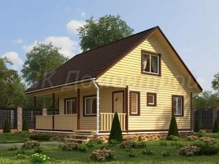 Проект дома из бруса 8х8