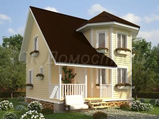 Каркасный дом с эркером Тревор