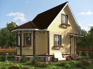 Новгородские дома из бруса