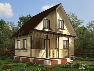 Проекты дачных домов из бруса