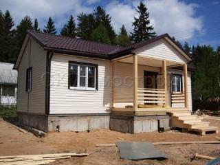 Одноэтажный каркасный дом для постоянного проживания