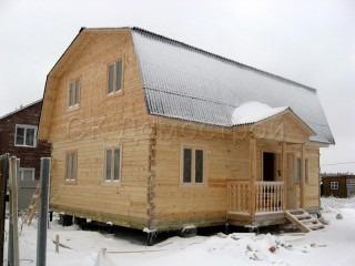 Дома из бруса с фундаментом под ключ