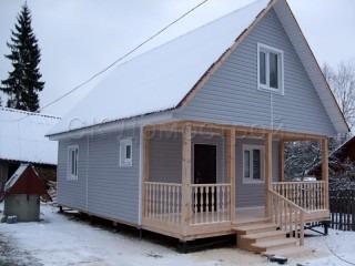 Каркасный дом с отделкой