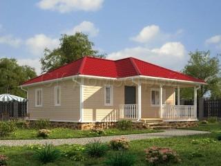 Одноэтажный дом в стиле шале