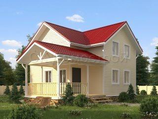 Дом 8 на 10 с отличной планировкой