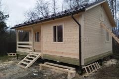 Дом из бруса 6х8 деревня Плишкино 1