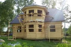 Дом под усадку 10х10 Клишино 1