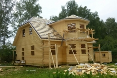 Дом под усадку 10х10 Клишино 13