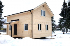 Каркасный дом 6х8 ДНП Лесный узоры 1