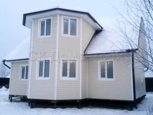 Двухэтажный каркасный дом 10х10