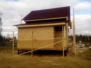 Каркас дома 6х8 деревня Калище