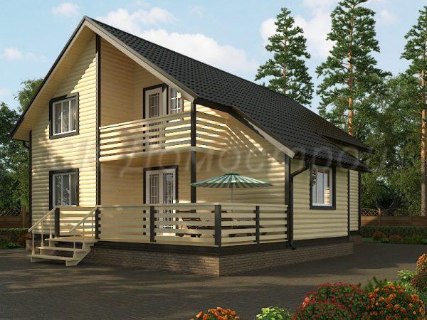 Дом из бруса«Архангельск»