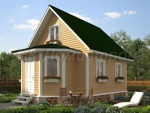 Дом «Соловьев» 6х8 м