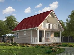Проект каркасного дома 6х9