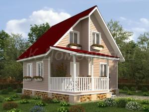 Дом «Орлов» 7х8 м