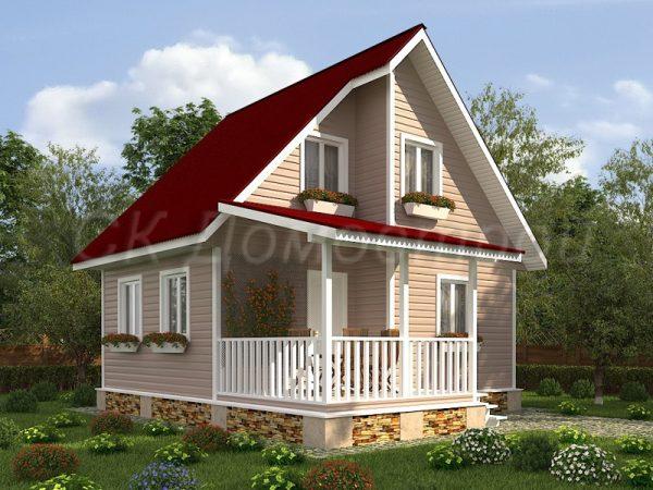 Каркасный дом 7х8 «Орлов»