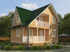 Дом «Витальев» 6х8 м