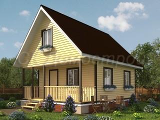 Недорогой брусовой дом