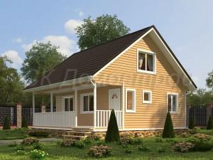Проект дома 8х8 с отличной планировкой