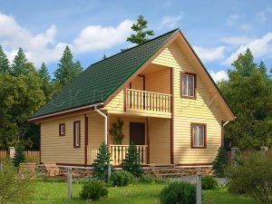 Дом из бруса «Обнинск»