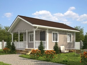 Дом «Зиновьев» 6х8 м
