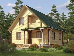 Дом из бруса «Касимов»