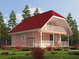 Проект каркасного дома 8х10