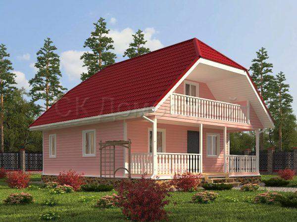 Каркасный дом 8х10 «Лукьянов»