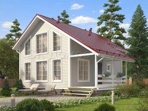 Каркасный дом 7х9 «Щербаков»