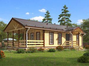 Дом из бруса «Саратов»