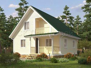 Проект каркасного дома 100 кв. м.