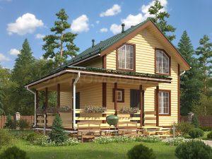 Дом из бруса «Якутск»