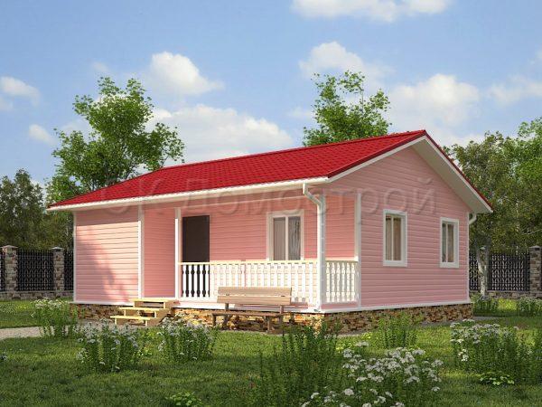 Каркасный дом 7,5х9 «Владленов»