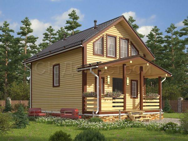 Дом из бруса «Бокситогорск»