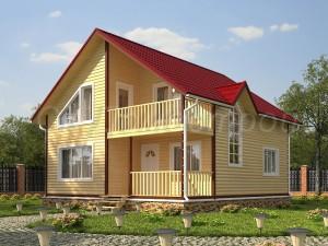 Дом из бруса «Дзержинск»