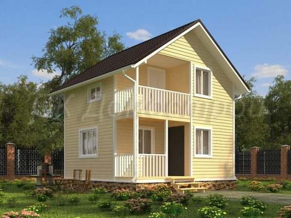 Каркасный дом 6х6 «Макаров»
