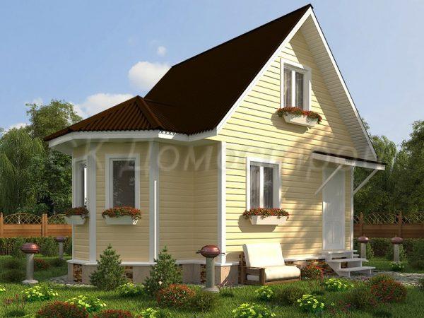 Каркасный дом 5х7