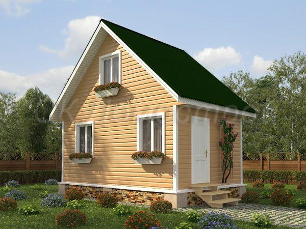 Каркасный дом 4х6 «Алексеев»