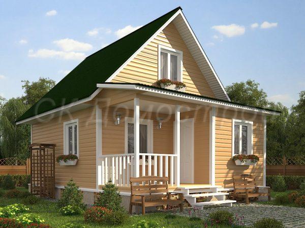 Каркасный дом 6х8 «Воронин»
