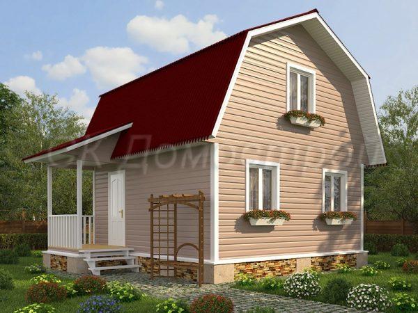 Каркасный дом 6х6 «Фомин»
