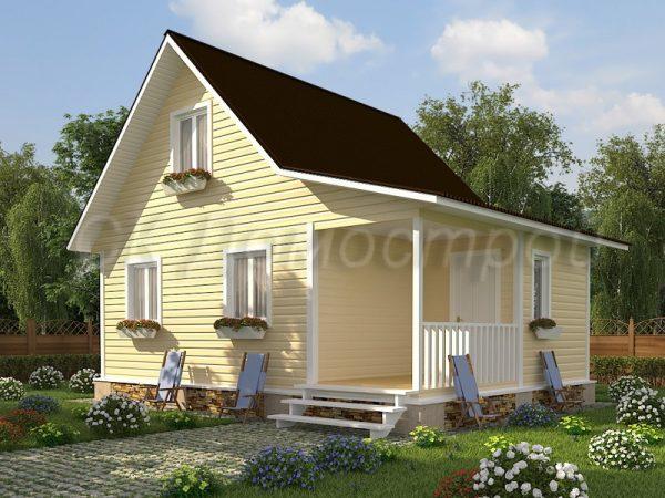Каркасный дом 6х8 «Фролов»