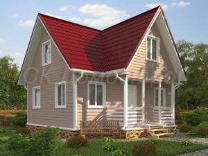Дом «Денисов» 7,5х8 м