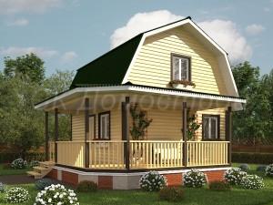 Дом из профилированного бруса под ключ
