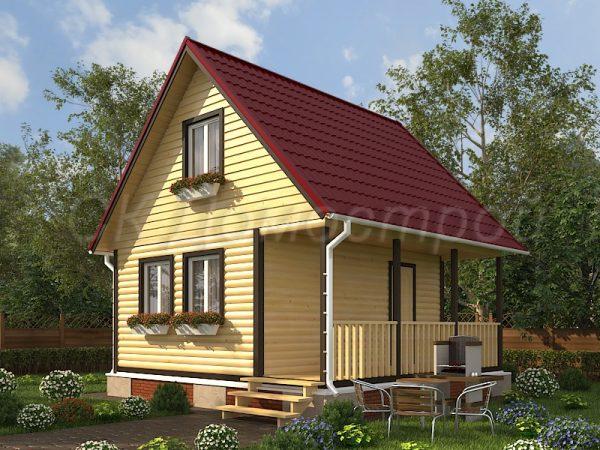 Дом из бруса «Клин»