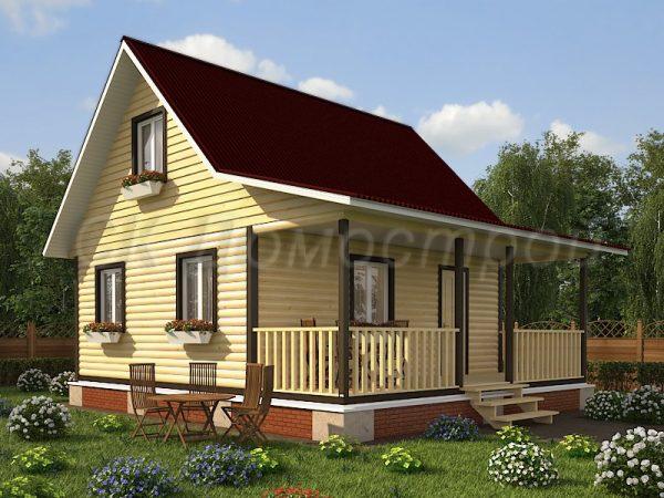 Дом из бруса «Липецк»