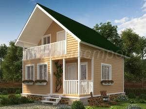 Дом «Глебов» 6х7 м