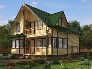 Дом из бруса 200х200